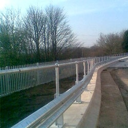 Armco Crash Barrier with Handrail