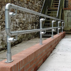 DDA Compliant Clamp Fitting Pedestrian Barrier