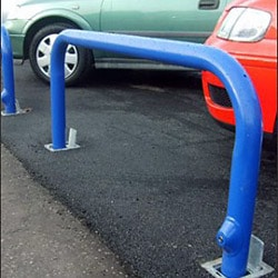 Perimeter Protection Hoop Barrier for Car Dealership