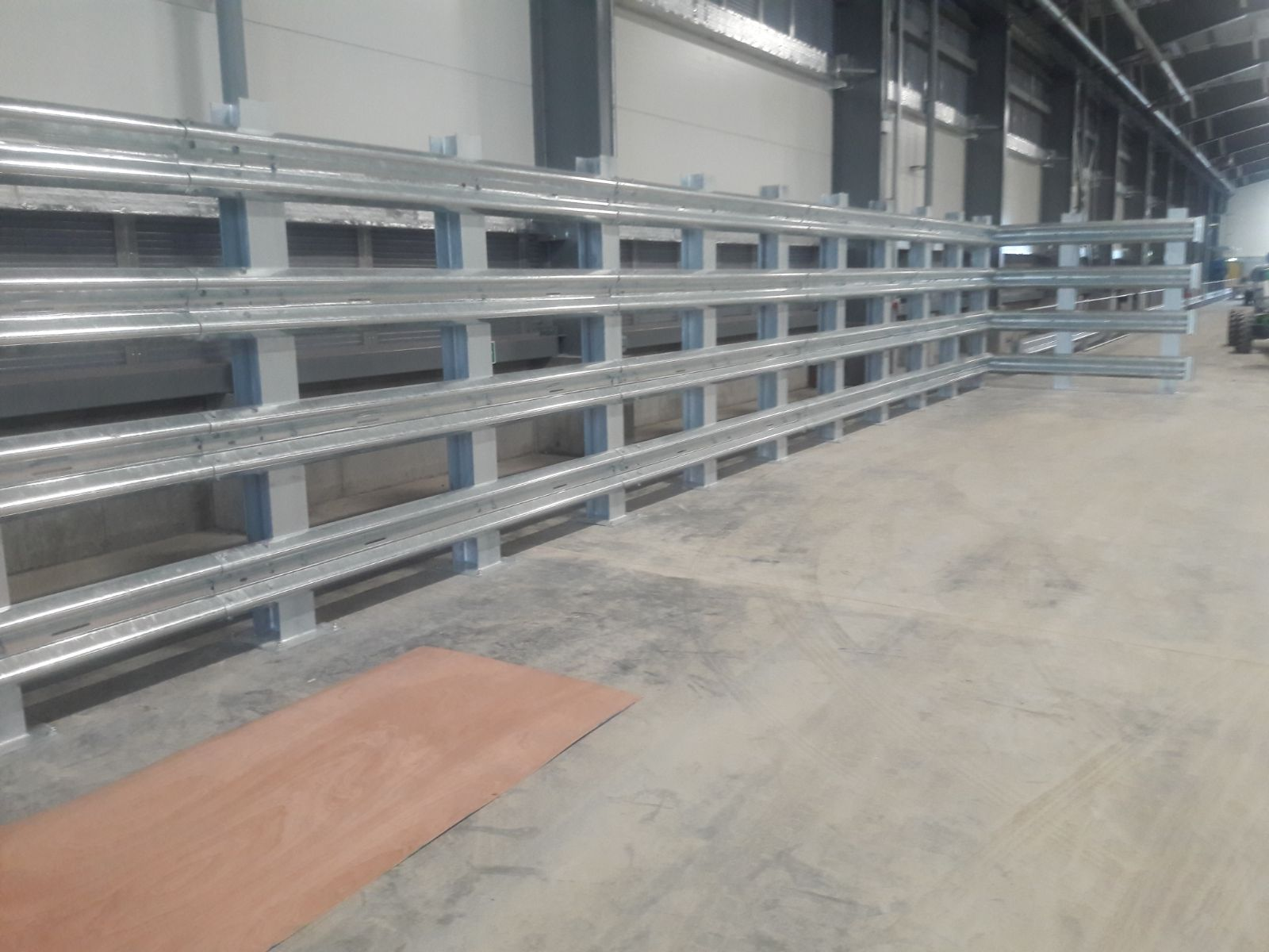 Four high armco barriers